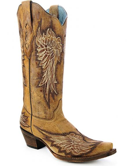 Corral Women's Wing Cowgirl Boots - Snip Toe