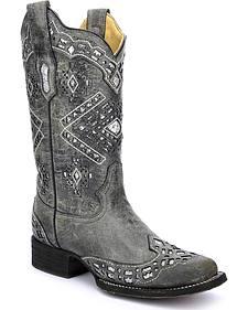 Corral Women's Glitter Cowgirl Boots - Square Toe