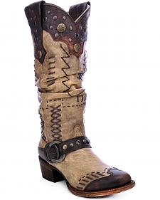 Corral Women's Studded Slouch Cowgirl Boots - Round Toe