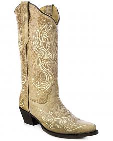 Corral All Over Embroidered Cowgirl Boots - Snip Toe