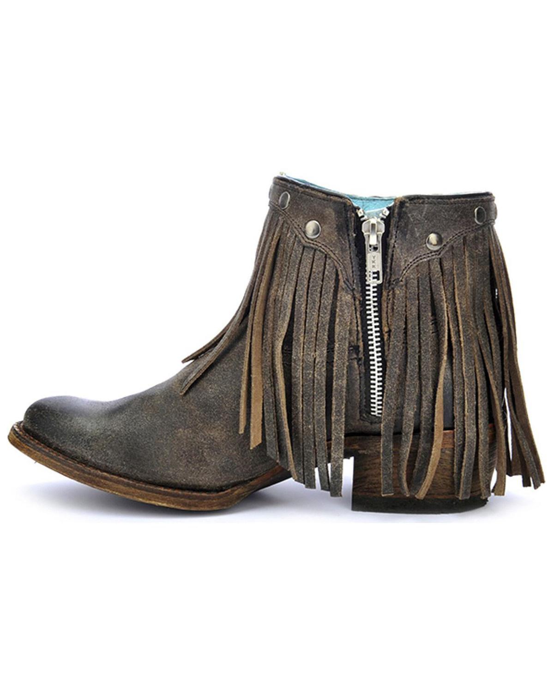 corral s fringe ankle boot toe a3136 ebay