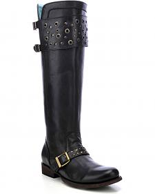 Corral Women's Eyelet Strap Harness Tall Boots - Round Toe