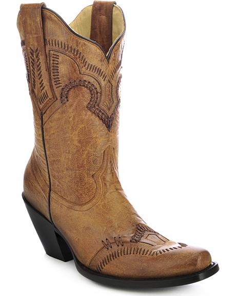 Corral Short Cowgirl Boots - Square Toe