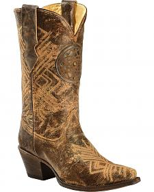 Corral Women's Dreamcatcher Fringe Cowgirl Boots - Snip Toe
