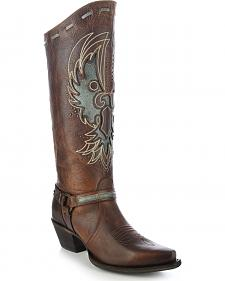 Corral Women's Eagle Harness Tall Cowgirl Boots - Snip Toe