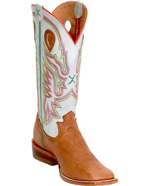 Twisted X Blue Ice Ruff Stock Cowgirl Boots - Square Toe