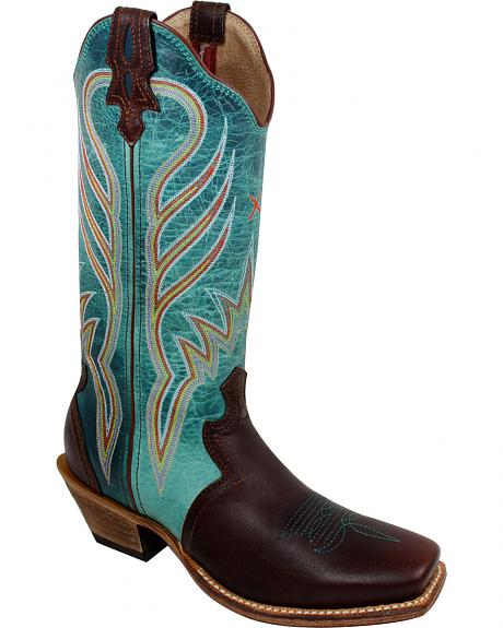 Twisted X Turquoise Steppin' Out Cowgirl Boots - Square Toe
