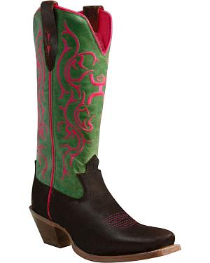 Twisted X Hooey Cowboy Boots - Square Toe