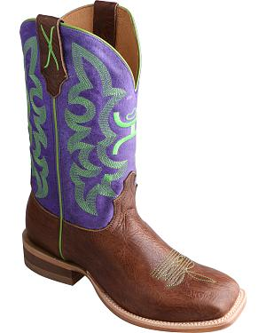 Twisted X HOOey Purple Cowgirl Boots - Square Toe
