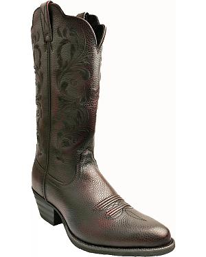 Twisted X Burgundy Western Cowgirl Boots - Round Toe