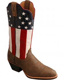 Twisted X American Flag Western Cowgirl Boots - Round Toe