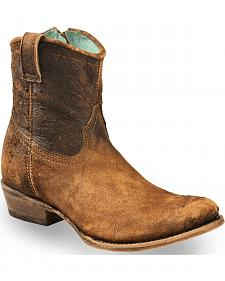 Corral Women's Lamb Abstract Short Boots - Round Toe
