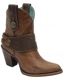 Corral Engraved Harness Short Boots - Medium Toe