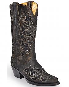 Corral Women's Sequin Inlay Cowgirl Boots - Medium Toe
