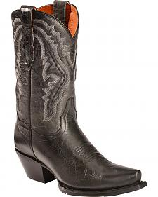 Dan Post Black Trinity Cowgirl Boots - Snip Toe
