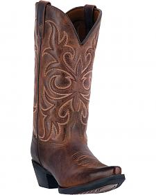 Laredo Maddie Distressed Cowgirl Boots  - Snip Toe