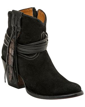 Lucchese Robyn Hand Tooled Feather Booties