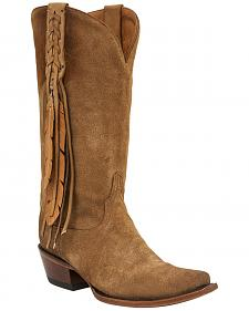 Lucchese Women's Tori Hand Tooled Feather Western Boots - Snip Toe