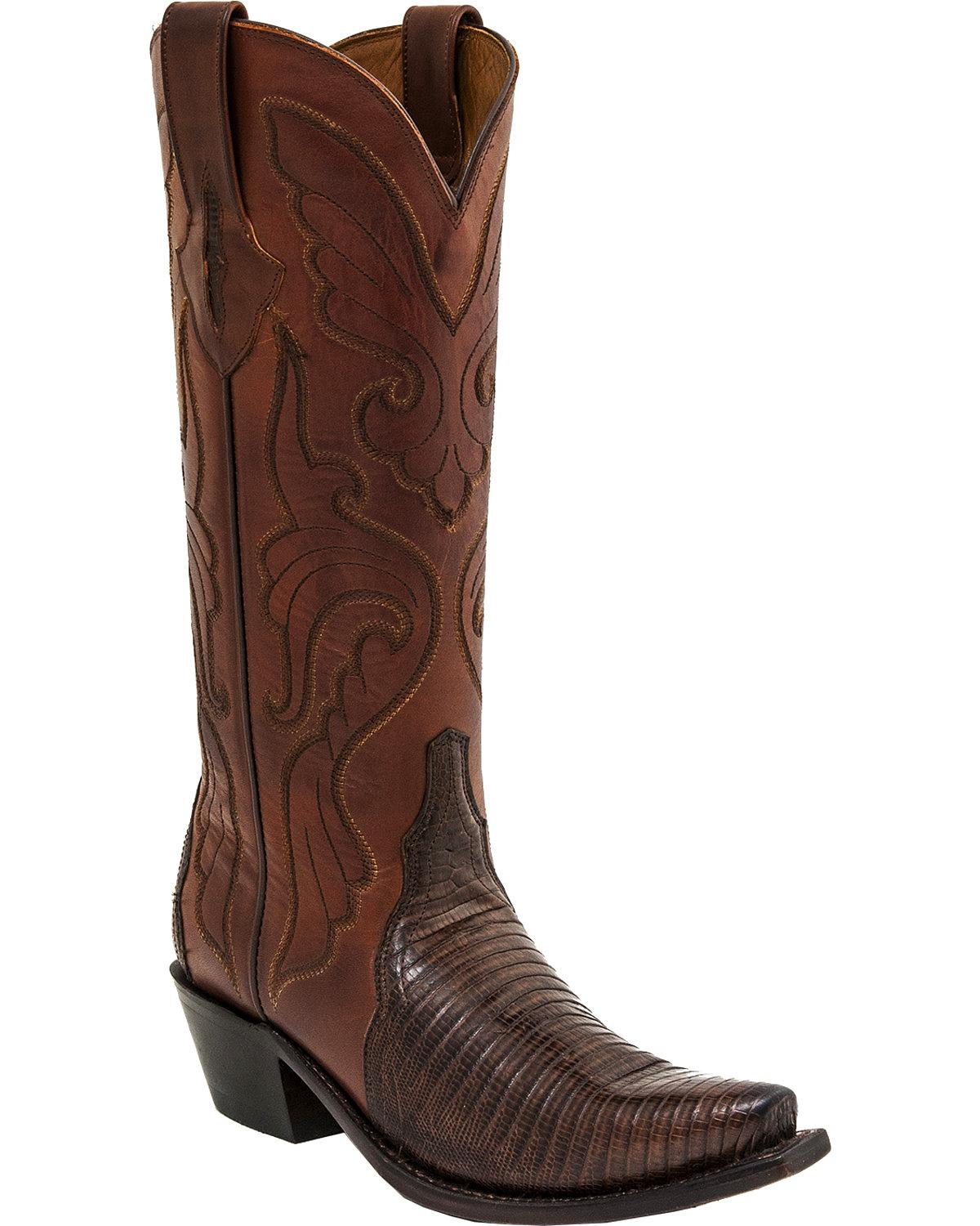 Popular Lucchese M3683 Brown Cafe Glitter Leather Womens Cowboy Boots With Gold Inlay | EBay