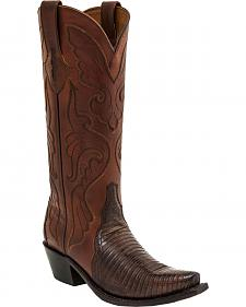Lucchese Carmen Lizard Triad Cowgirl Boots - Snip Toe