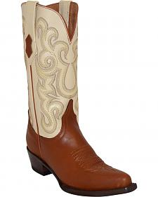 Ferrini French Calf Leather Pearl Cowgirl Boots - Snip Toe