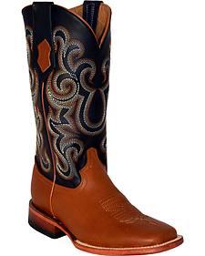 Ferrini French Calf Leather Cowgirl Boots - Square Toe
