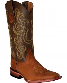 Ferrini French Calf Leather Cowgirl Boots - Square Toe