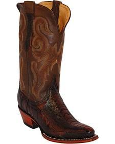 Ferrini Ostrich Leg Cowgirl Boots - Snip Toe