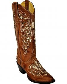 Ferrini Southern Belle Cowgirl Boots - Snip Toe