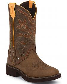 Justin Brown Barnwood Gypsy Cowgirl Boots - Square Toe
