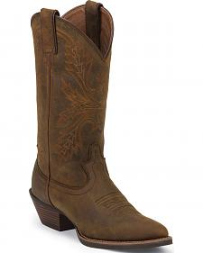 Justin Silver Collection Sorrel Apache Cowgirl Boots - Round Toe