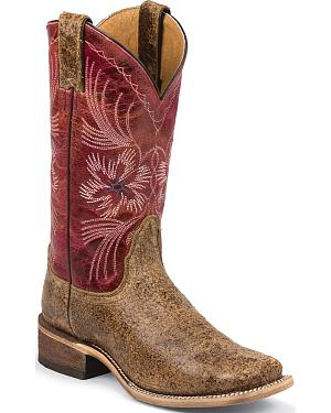 Nocona Womens Tan Dust Ranch Hand Western Boots - Square Toe