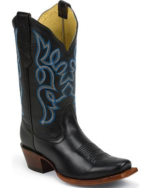 Nocona Black Brasalis Calf Fashion Western Boots - Square Toe