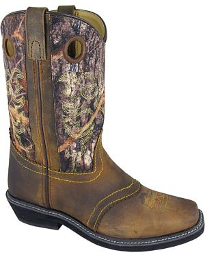 Smoky Mountain Pawnee Camo Cowgirl Boots - Square Toe