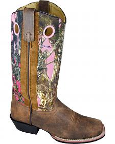 Smoky Mountain Tupelo Pink Camo Cowgirl Boots - Square Toe