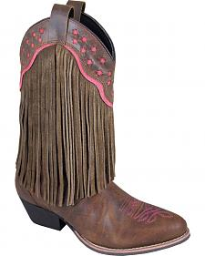 Smoky Mountain Helena Brown Fringe Cowgirl Boots - Round Toe