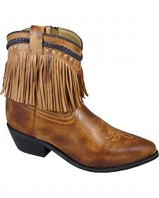 Smoky Mountain Torrance Fringe Short Boots - Pointed Toe