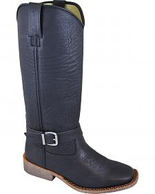 Smoky Mountain Buttercup Black Tall Riding Boots - Square Toe