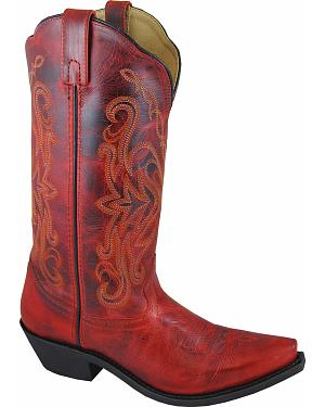 Smoky Mountain Madison Red Cowgirl Boots - Snip Toe