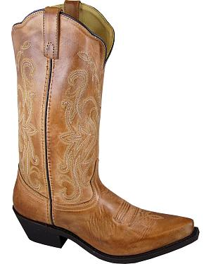 Smoky Mountain Madison Tan Cowgirl Boots - Snip Toe
