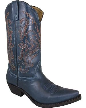 Smoky Mountain Madison Blue Cowgirl Boots - Snip Toe