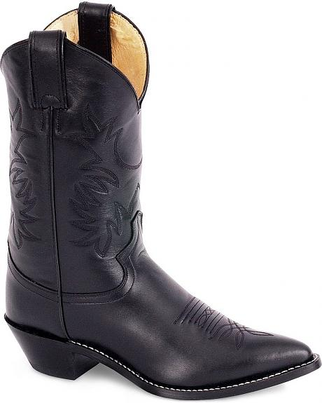 Justin Leather Cowgirl Boots