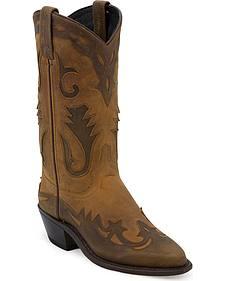 Abilene wingtip western boots
