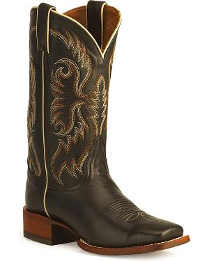 Nocona Womens Soft Ice Leather Rancher Boots - Square Toe