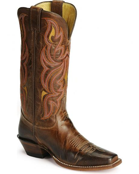 Justin Antique Tan Punchy Cowgirl Boots
