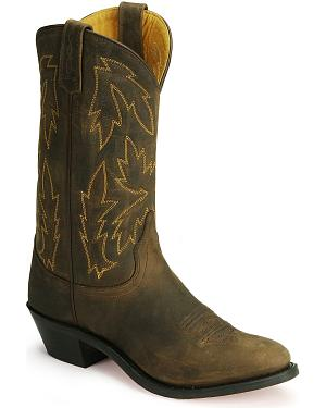 Old West Apache Leather Cowgirl Boots