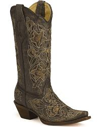 Corral Laser Cutout Cowgirl Boots at Sheplers