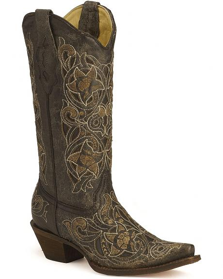 Corral Laser Cutout Cowgirl Boots