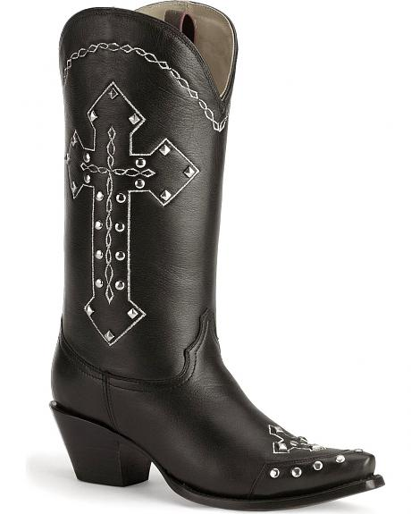 Corral studded cross western boots