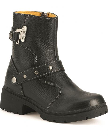 Milwaukee Delusion Harness Zipper Motorcycle Boots
